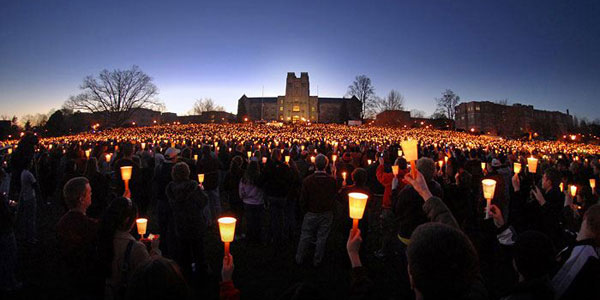 Virginia Tech Drillfield Vigil